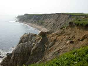 """Bluffs along the coast of Nomans island nantucket"" by Gore Lamar, U.S. Fish and Wildlife Service - http://www.public-domain-image.com/public-domain-images-pictures-free-stock-photos/nature-landscapes-public-domain-images-pictures/coast-public-domain-images-pictures/bluffs-along-the-coast-of-nomans-island-nantucket.jpg. Licensed under Public Domain via Wikimedia Commons - http://commons.wikimedia.org/wiki/File:Bluffs_along_the_coast_of_Nomans_island_nantucket.jpg#mediaviewer/File:Bluffs_along_the_coast_of_Nomans_island_nantucket.jpg"